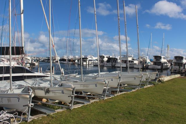 Yacht club dinghy's