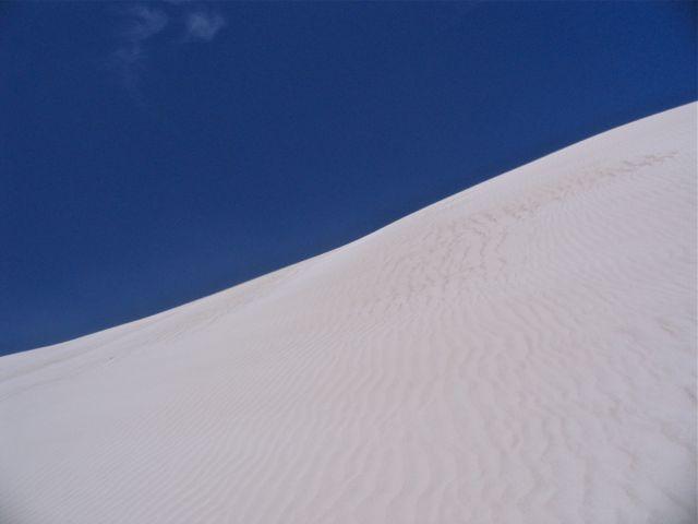 Sand dune and sky.