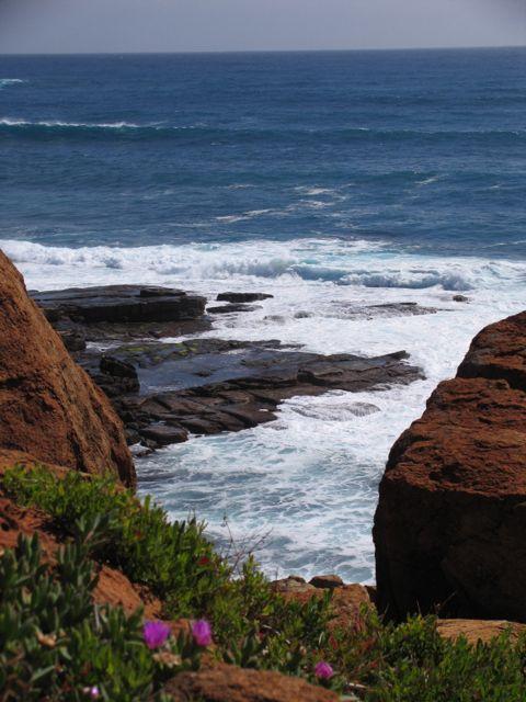 Whitewater coastline.